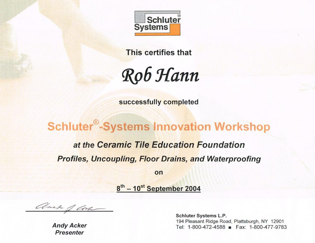 Schluter Systems Innovation Workshop